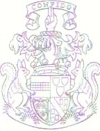 Sample family crest; Actual size=135 pixels wide