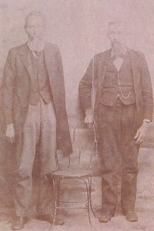 Antique picture of a man and woman; Actual size=180 pixels wide